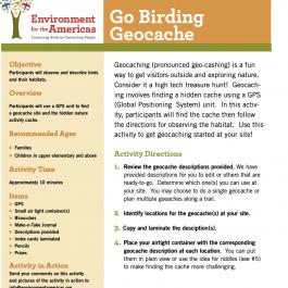 Go Birding Geocache
